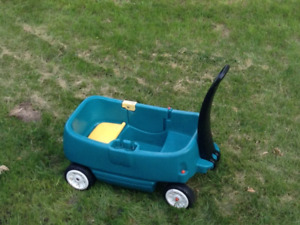 Large plastic wagon two seater 2 cup holders paid $109.00