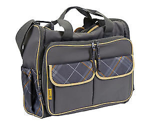 The Safety 1st diaper bags. With many storage compartments.