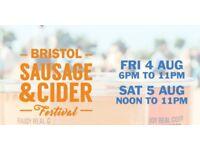 4 Friday tickets for Bristol Sausage &a Cider festival