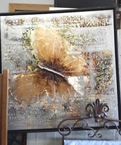 Butterfly Oil Painting NEW Reg $349