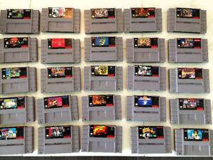 20 Super Nintendo Games. Samurai, Double Dragon, Lost Vikings