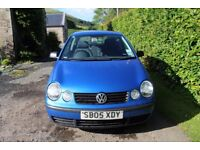 2005 Volkswagen Polo, Blue. 1.2 Petrol Engine, 3 Doors. 11 Month MOT