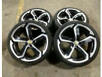 "19"" AUDI /MERCEDES DOTS ALLOY WHEELS & GOOD MATCHING TYRES 5X112(AUDI, MERCEDES, VW,)"