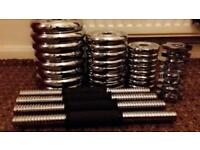 YORK Cast Iron Dumbbell Set