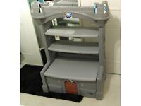 Childs Castle Bookcase Storage Seat Bedroom Playroom Furniture by Today's Kids