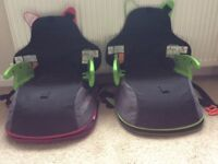 Trunki BoostApak Travel Backpack Booster Car Seat x 2 in Pink & Green