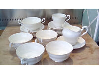 Royal Standard Fine Bone China - Pure White with Gold Rim - various pieces