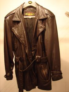 Manteau en cuir Dimitri