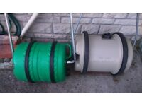 Waste water and Fresh water Barrels