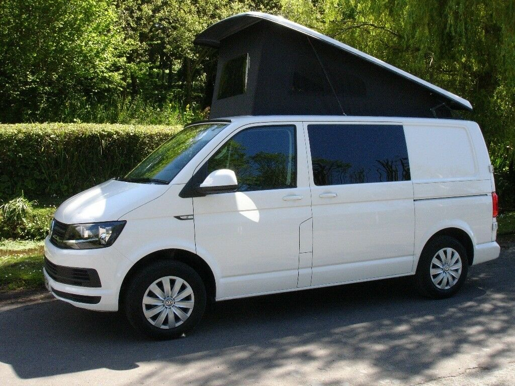 66 plate 2016 vw transporter t6 camper van vw warranty pop top new shape 10 months old in. Black Bedroom Furniture Sets. Home Design Ideas
