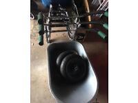 New 90L heavy duty wheelbarrow