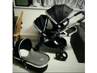 Icandy Peach in Black Magic Double Buggy with Carrycot I candy