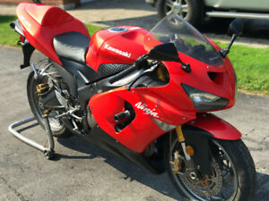 2005 ZX-6R w/solo and pillion seat incl.