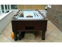 Full size slate pub pool table