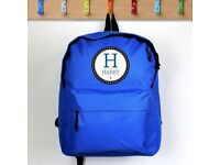 PERSONALISED School Bag. Any Boys Name. Blue Childrens Backpack / Rucksack