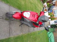 SYM SIMPLY 125cc SCOOTER LOW ORIGINAL MILEAGE ONE OWNER FROM NEW FULL MO T 08 PLATE