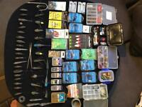 Large amount of sea fishing tackle