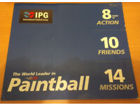 20 Paintballs Tickets for International Paintball Group (IPG)