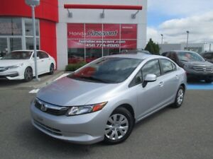 2012 Honda Civic LX + A/C + BLUETOOTH