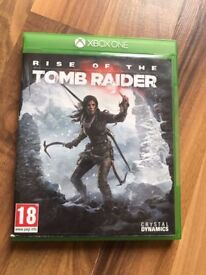 rise of the tomb raider , as new , xbox one ! price stands , no offers ! will post !