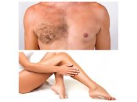 Waxing and Massage. Male and Female. Back pain treatment.