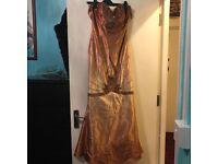 Golden brown mermaid dress