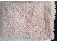 Decorative Throw [Fluffy] Creamy Pink Colour