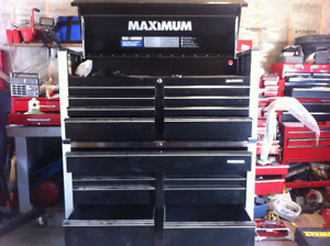 57 inch wide bottom and top tool chest