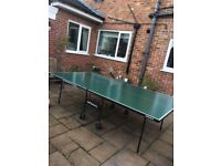 Table tennis table outdoors
