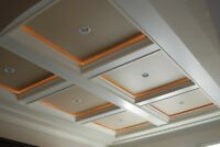 Crown Moulding Coffered Waffle Ceiling Wainscoting Baseboard