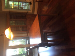 Dining Room Suite, 2 Piece Hutch, Table and 6 Chairs