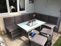 Garden sofa and table