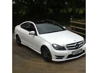 Mercedes C250 AMG Sport cdi auto diesel coupe White