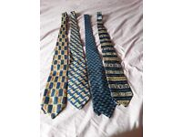 4 mixed ties background blue