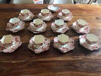 Vintage china tea set - trio- cup, saucer, side plate - wedding events