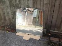 Antique vintage etched dressing table mirror