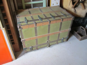 antique travel trunk with drawers store window display theatre
