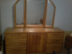 Beautiful Pallisar Dresser with mirror and matching end tables