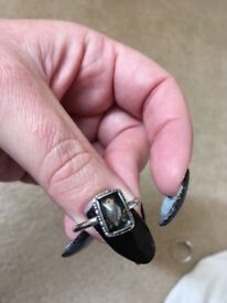 2 1920's silver rings size T