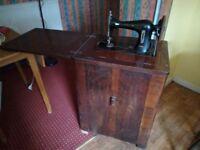 Beginning 20th century Jones sewing machine