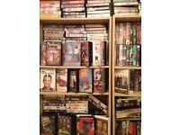Huge collection of vhs videos 600 plus