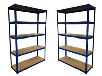 £48HEAVY DUTY 174kg/shelf BLUE Storage shelves 180x120x40cm Metal Racking Garage delivery