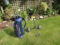 Golf Clubs, Trolley, Bag and all accessories including at least 24 golf balls