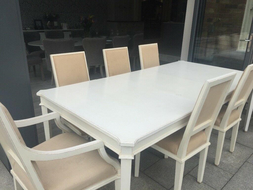 Laura ashley henshaw dining table and 8 chairs in milton keynes buckinghamshire gumtree - Laura ashley office chair ...