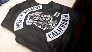 SONS OF ANARCHY LEATHER 1%ER MOTORCYCLE CLUB BIKER VEST