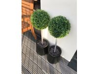 Pair of Artificial Topiary Trees