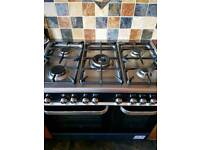 KENWOODGas Range Cooker with Fan oven and Grill - Black