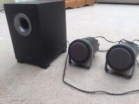 Altec Lansing 2.1 powered speaker system - many uses