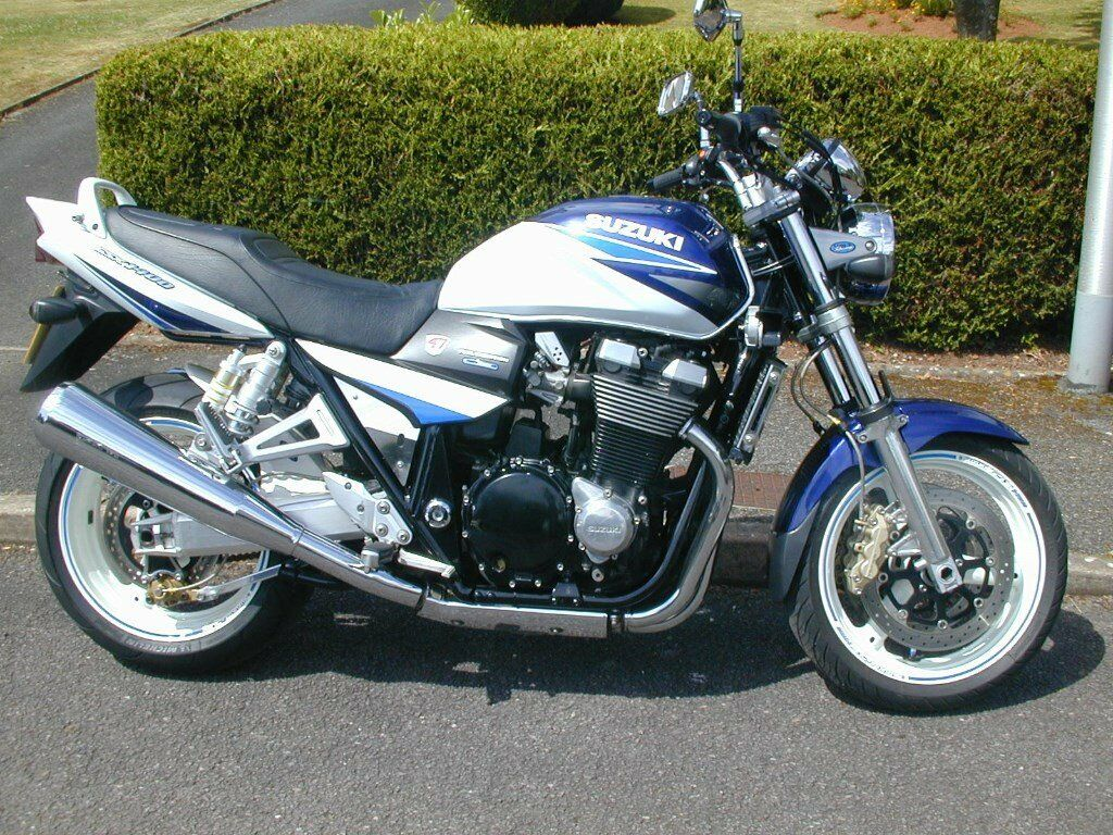 suzuki gsx 1400 k3 blue white lovely looking almost original muscle bike with extras in. Black Bedroom Furniture Sets. Home Design Ideas