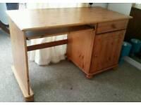 Solid pine natural wood computer desk RRP £159